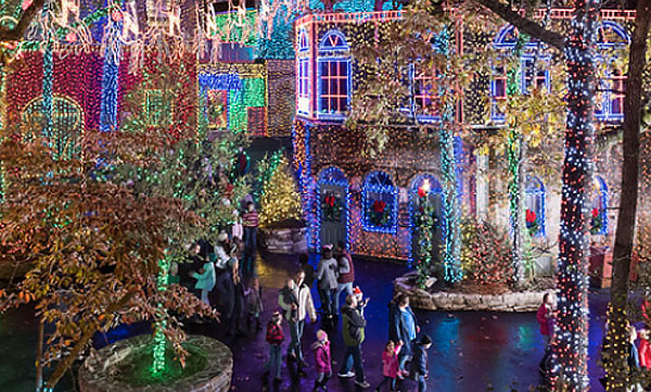 Tis the season to see the dazzling Christmas lights at Silver Dollar City!